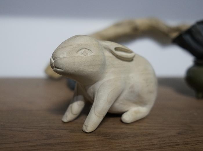 【木雕教程】一只可爱的兔子,雕刻练手新作