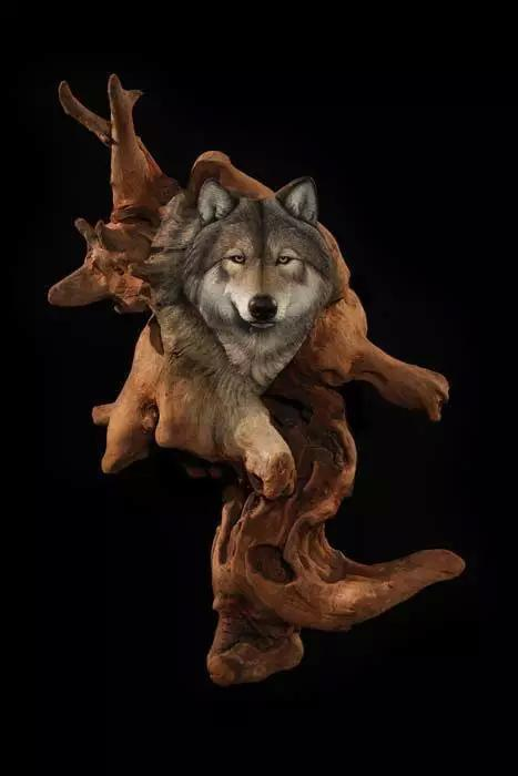 【木作欣赏】动物园,没错全是木雕做的-手工记木