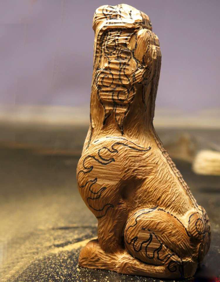 【木雕过程】朝天吼
