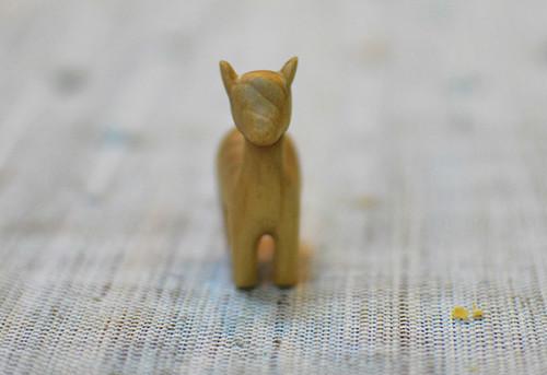 【木雕教程】圣诞节小鹿--练手制作-手工记木