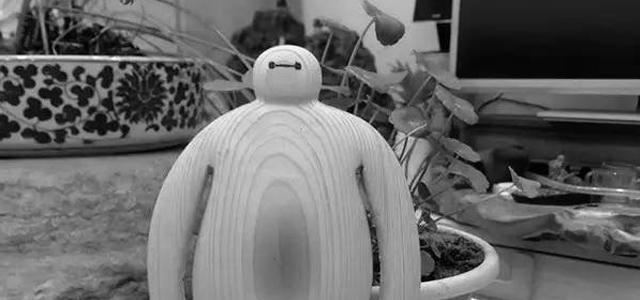 木雕过程-超能陆战队:大白