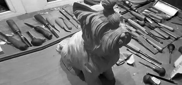 【木雕过程】一只可爱的宠物狗