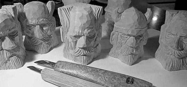 【木雕过程】西方版木雕开脸教程