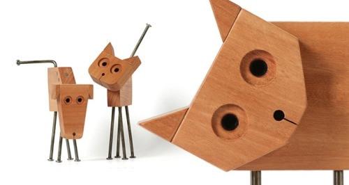 【木作欣赏】用最简单的方法,做一只萌萌哒喵星人-手工记木