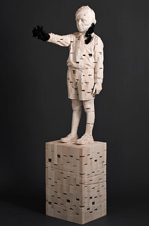 【木作欣赏】在绝望与黑暗的挣扎中觉醒—碎木拼雕-手工记木